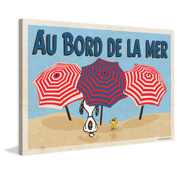 Marmont Hill 'Au Bord De La Mer' Painting Print on Wrapped Canvas