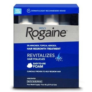 Rogaine Hair Regrowth for Men 5-percent Minoxidil Topical Foam Four-month Supply