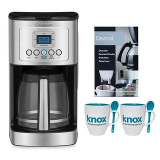 Cuisinart DCC3200W PerfecTemp 14-Cup Coffeemaker + Knox 16-Ounce Mug with Spoon (2-Pack) and Dezcal Descaling Powder