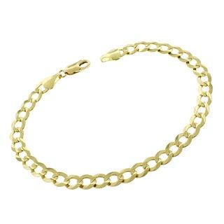 14k Gold 5.5mm Solid Cuban Curb Link Bracelet