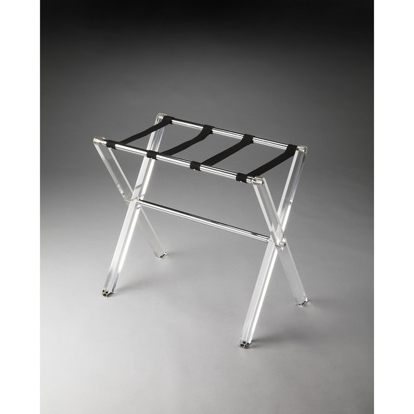 Butler Crystal Clear Acrylic Luggage Rack