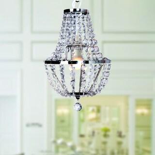 Eldorey 1-light Clear Acrylic 32-inch Crystal Chandelier