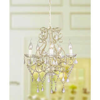 Elanee 5-light Clear Acrylic Crystal 43-inch Chandelier