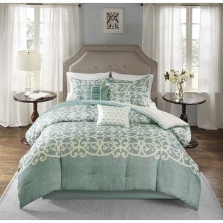 Madison Park Novella Blue 7-piece Comforter Set