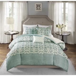 Madison Park Novella Blue 6-piece Duvet Cover Set