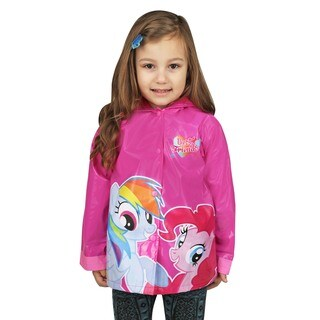 My Little Pony Rainbow Girl's Pink Vinyl Toddler/Kids Raincoat