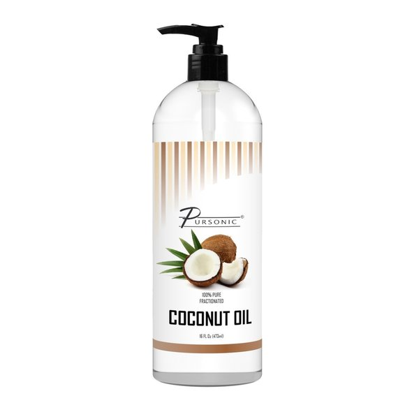 Pursonic 100-percent Pure Fractionated 16-ounce Coconut Oil for Massages, Therapeutic Recipes and Essential Oils