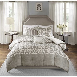 Madison Park Novella Grey 7-piece Comforter Set