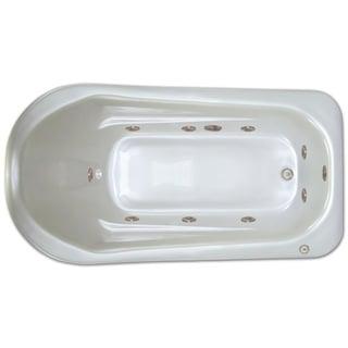 Signature Bath White Acrylic Drop-in Whirlpool Bathtub
