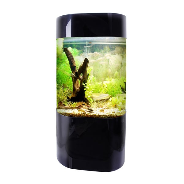 Vepotek Black Plastic Aquarium Fish Tank