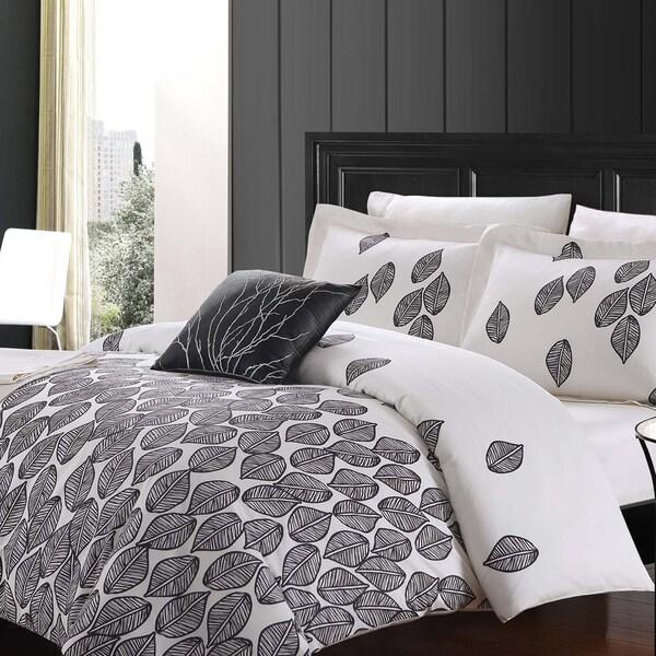 Cascade 8 Piece Cotton Duvet Cover and Sheet Set