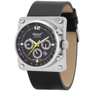 Ingersoll Men's Stainless Steel and Black Leather Bison No. 43 Fine Automatic Timepiece