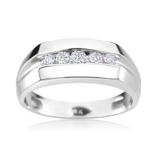 SummerRose Men's 14k White Gold 1/4ct TDW Diamond Ring (H-I, SI2-I1)
