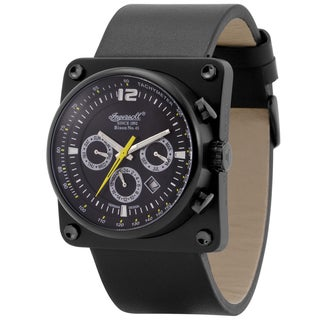 Ingersoll Men's Bison No. 43 Black Leather Automatic Watch