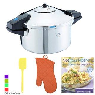 Kuhn Rikon Stainless Steel Pressure Cooker + Kitchen Accessory Bundle