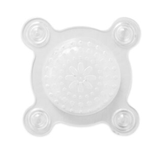 Clear Vinyl Drain Shield With Suction Cups