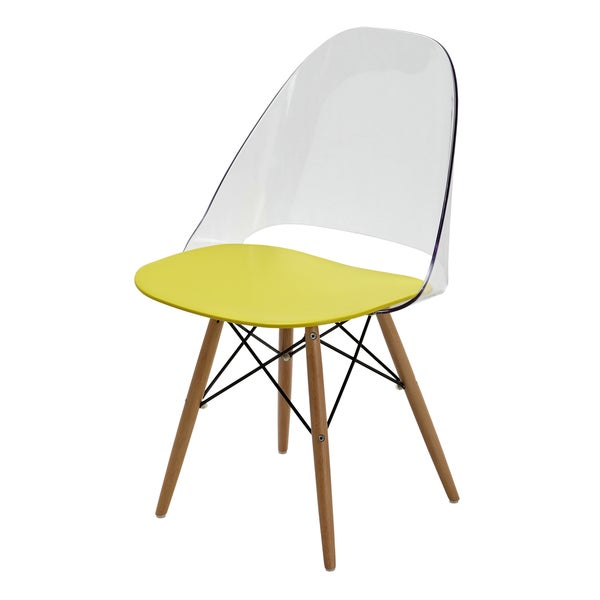 Avery Clear and Custard Two-Tone Chair (Set of 2)