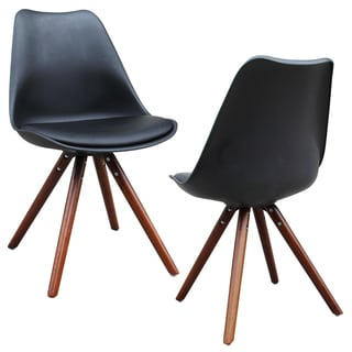 Klein Set Of 2 Mid Centory Modern Faux Leather Accent Chairs