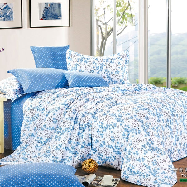 Springfield Floral Cotton 4-Piece Duvet Cover Set
