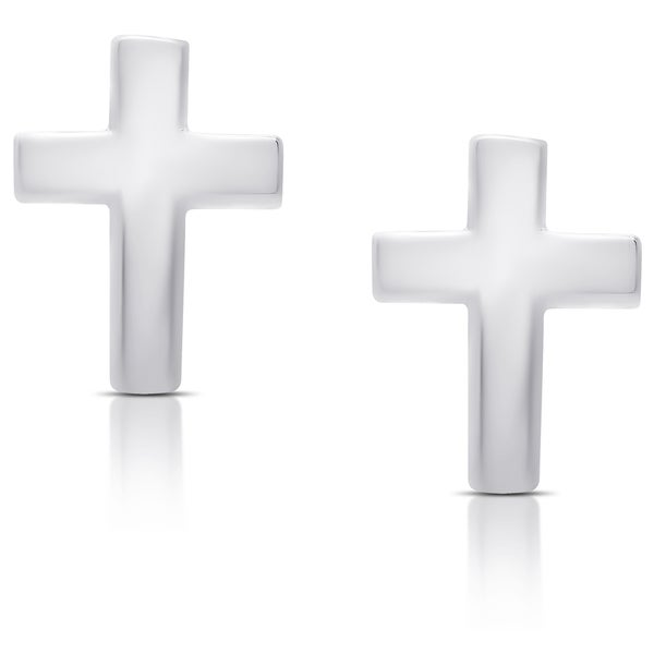 Molly and Emma Sterling Silver Cross Earrings