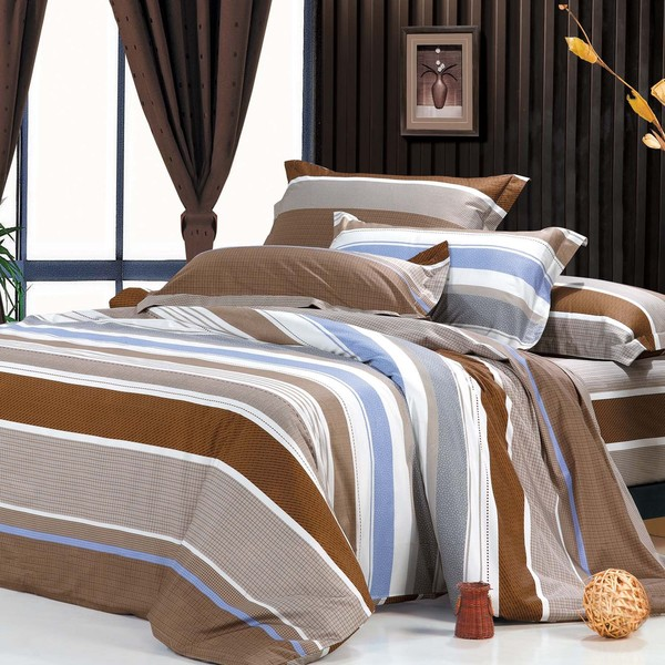 Luna Cotton 4-Piece Duvet Cover Set