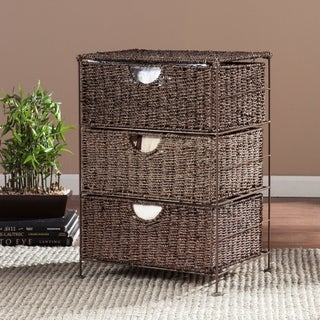 Upton Home Kerry Seagrass 3-Drawer Storage