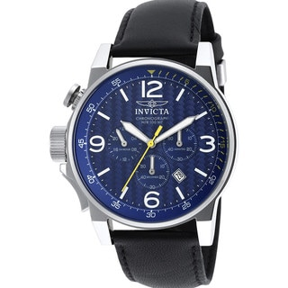 Invicta Blue/Black Stainless-steel/Leather Men's Watch