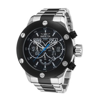 Invicta Russian Diver Men's Black and Silvertone Stainless Steel Watch