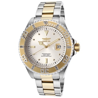 Invicta Pro Diver Silvertone/Goldtone Stainless Steel Watch