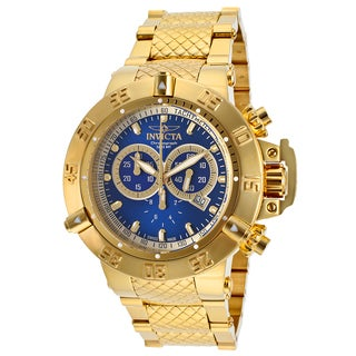 Invicta Men's Subaqua Goldtone Stainless Steel Chronograph Watch
