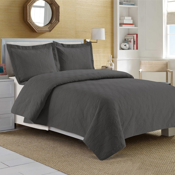 200 Thread Count Egyptian Cotton Embroidered Quilt Set