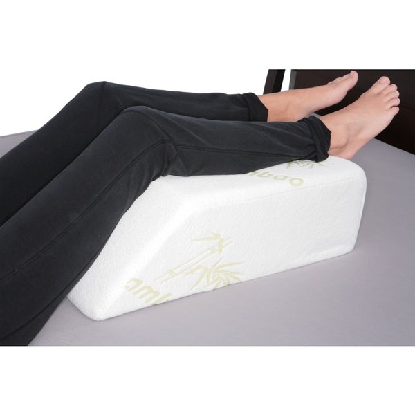 Foam Leg Wedge Pillow with Rayon from Bamboo Cover