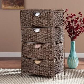 Upton Home Kerry Seagrass 4-Drawer Storage