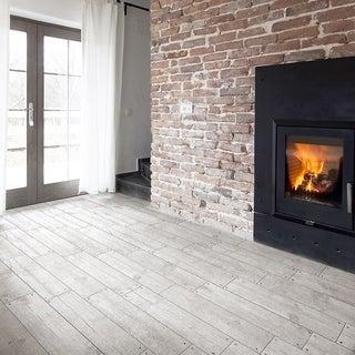 SomerTile 5.875x23.625-inch Cabana White Ceramic Floor and Wall Tile (12 tiles/12.2 sqft.)