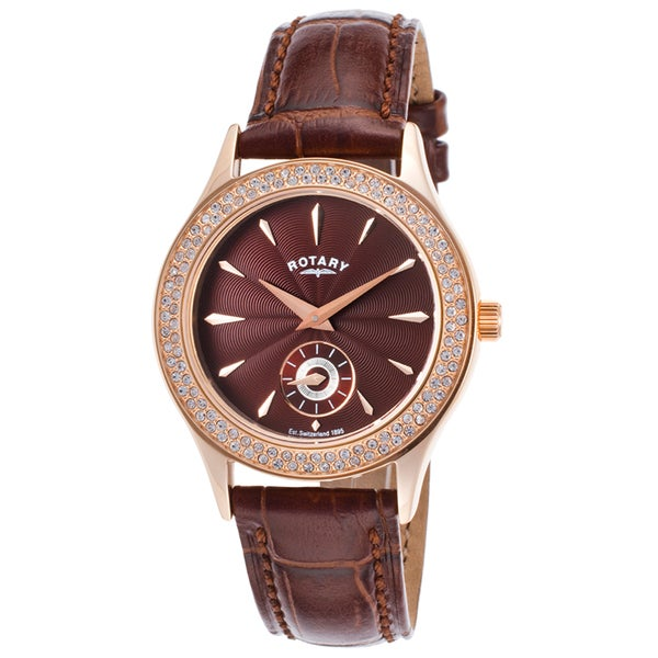 Rotary Brown Leather/Stainless Steel Quartz Watch