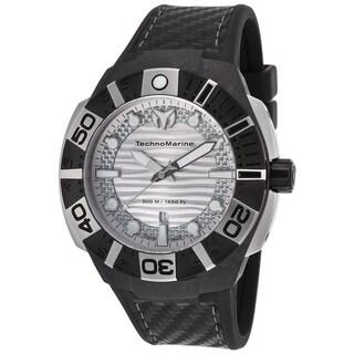TechnoMarine Black Reef Black/Silvertone Sapphire/Silicone/Stainless Steel Watch