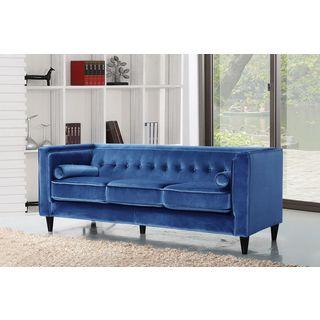 Meridian Taylor Light Blue Velvet Sofa