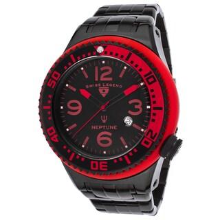 Swiss Legend Neptune Black Mineral/Stainless Steel Watch