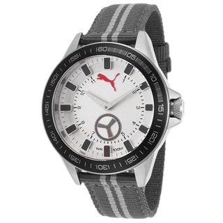 Puma Men's Grey Nylon and Stainless Steel Quartz Watch
