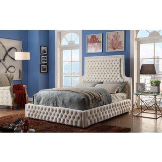 Meridian Sedona Cream Velvet Bed