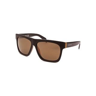 Diesel Men's Green and Orange Square Frame Sunglasses