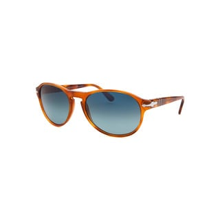 Persol Women's Brown Plastic Round Sunglasses