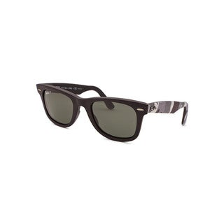 Ray-Ban Women's Black Plastic Sunglasses with Grey Lenses