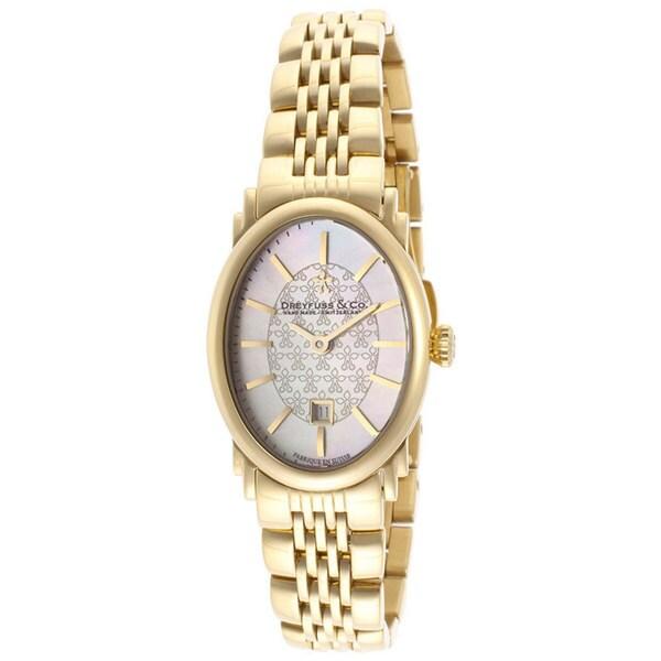 Dreyfuss & Co. Women's Goldtone Stainless Steel Watch