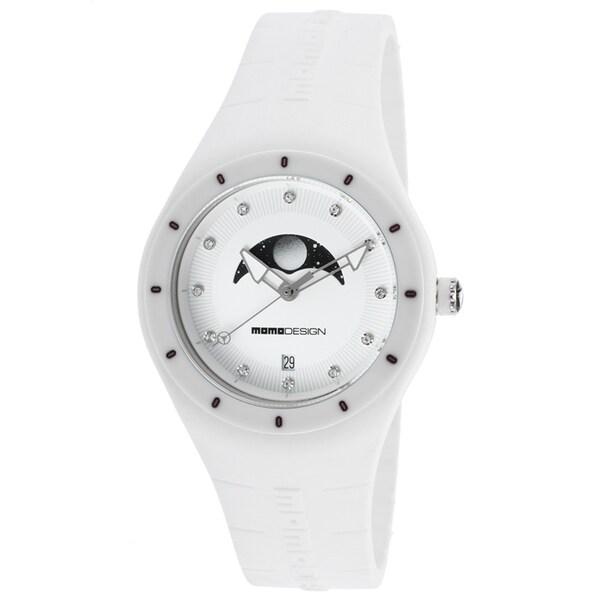 Momo Design Women's Mirage White Silicone Watch