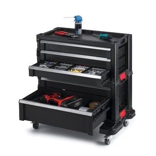 Keter Plastic Portable Sliding Storage 5-Drawer Organizer System