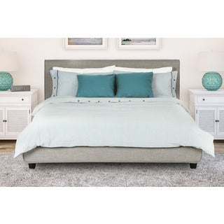 Avenue Greene Mileto Grey Linen Modern Upholstered Full Bed