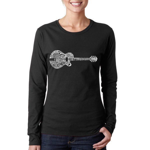 Women's Country Guitar Long-sleeved T-shirt