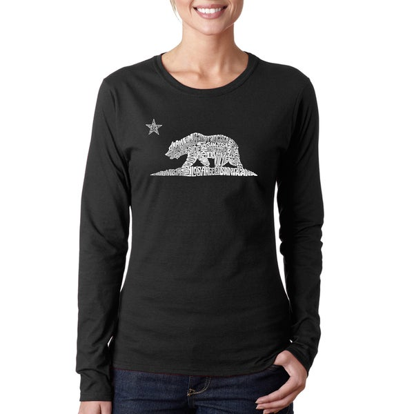 Women's California Bear Long-sleeved T-shirt