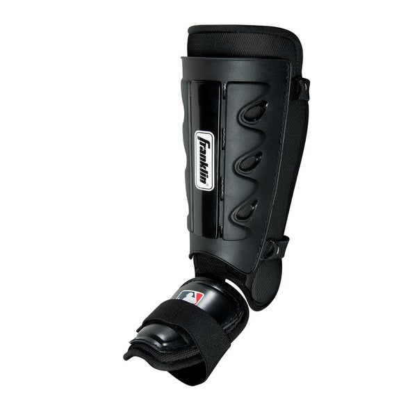 Franklin Sports MLB Black Plastic Youth Batter's Shin Guard